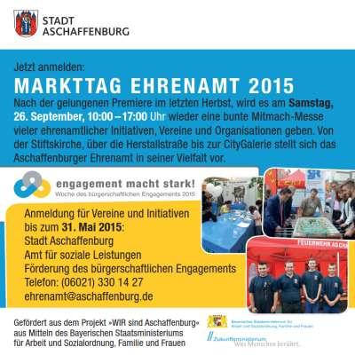 Markttag Ehrenamt 2015 (c) Stadt Aschaffenburg