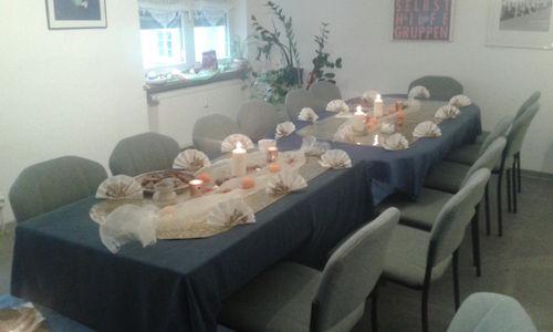 Weihnachtsfeier 2015 gedeckter Tisch