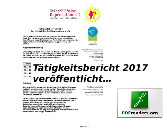 Tätigkeitsbericht 2017 veröffentlicht